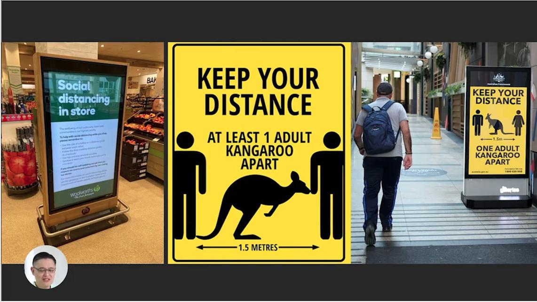 Digital Signage Post Pandemic - Austrialian store example   AVIXA
