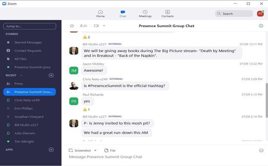 Presence Summit Group Chat   AVIXA