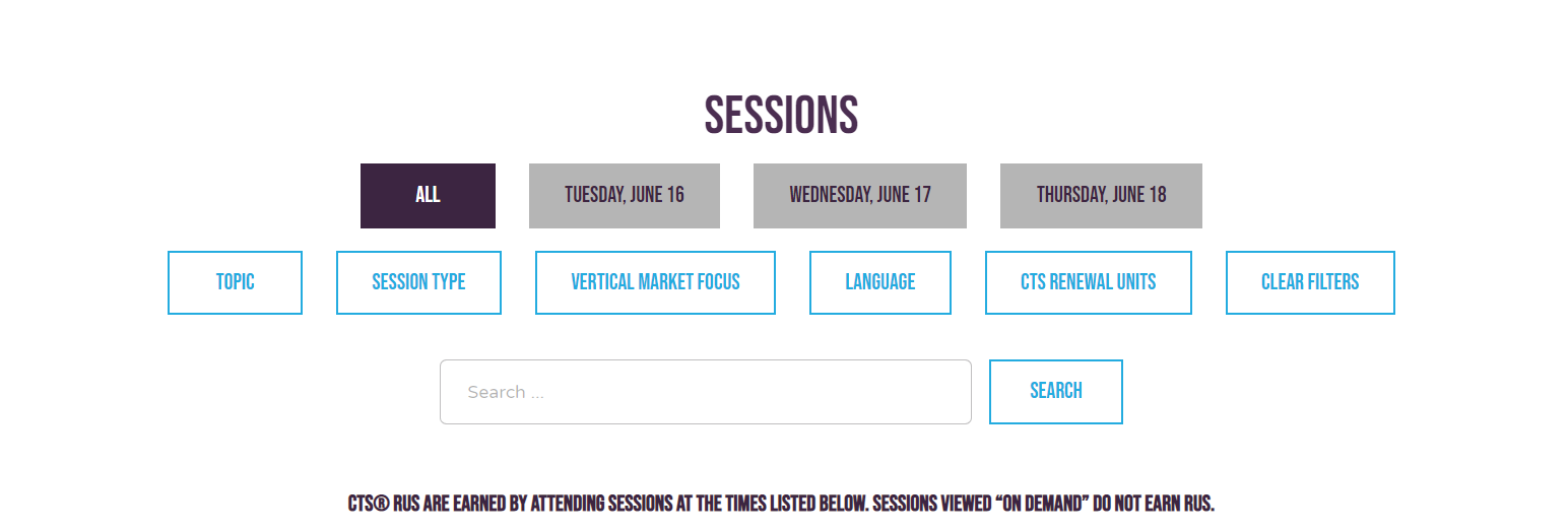 Sessions are easy to find and add to your calendar.   AVIXA