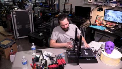 Brian Dickson experimenting with 3D printer | AVIXA