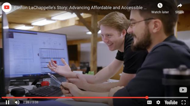Easton LaChappelle's Story YouTube video | AVIXA