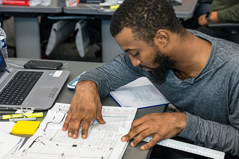 Man studying CTS Prep | AVIXA