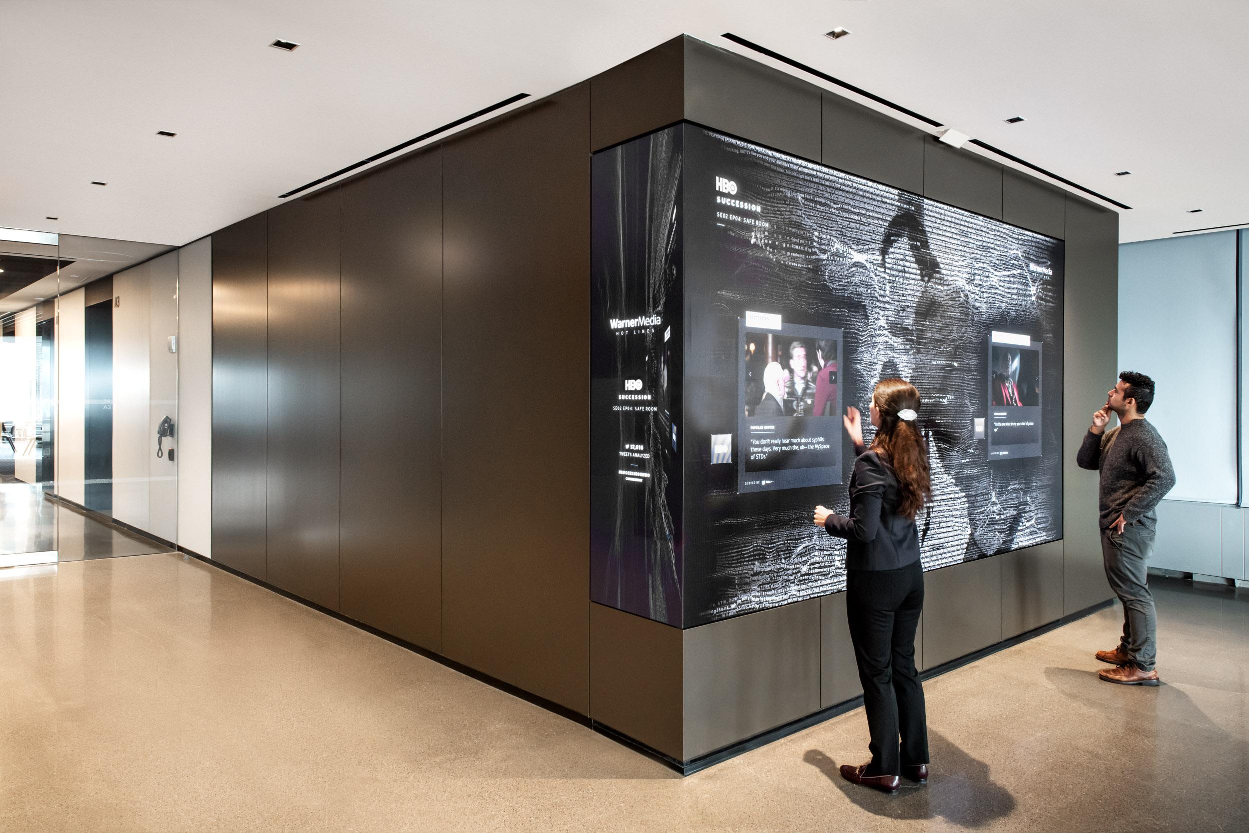 An interactive experience at WarnerMedia's Hudson Yards HQ by ESI Design (Photo credit: Keena Photo) | AVIXA