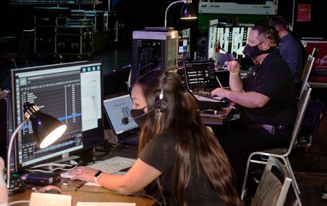 The entire crew ran the show from backstage. Photo courtesy Technisch Creative.   AVIXA